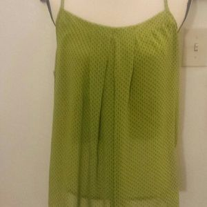 Green with polka dot top